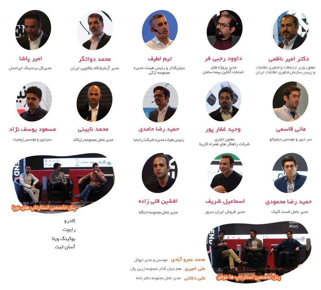 سخنرانان پنجمین جشنواره فناوری اطلاعات کشور